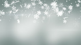 Christmas snowfall on gray background Royalty Free Stock Photo