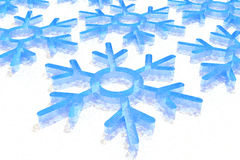 Christmas snowflake Stock Photos