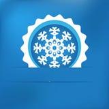 Christmas snowflake applique Royalty Free Stock Photo