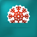 Christmas snowflake applique Royalty Free Stock Images