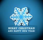 Christmas Snowflake Applique Royalty Free Stock Photography