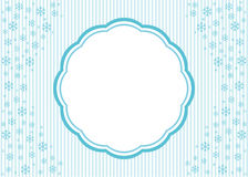 Christmas snowflake applique  background. Royalty Free Stock Image