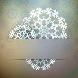 Christmas snowflake applique. + EPS10 Stock Photography