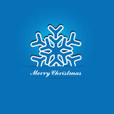 Christmas Snowflake Applique Vector Stock Images