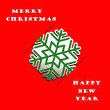 Christmas snowflake applique vector background Royalty Free Stock Images