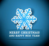Christmas snowflake applique Royalty Free Stock Photography