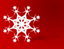 Christmas Snowflake Background Stock Photography