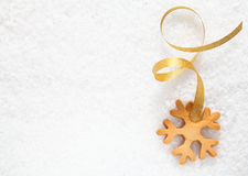 Christmas snowflake background Royalty Free Stock Photo