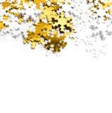 Christmas snowflake. Christmas background. Gold snowflake Royalty Free Stock Photos