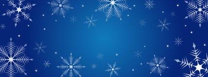 Christmas snowflake background illustration Stock Photography