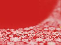 Christmas Snowflake Background. Red christmas background partialy covered with snowflakes Vector Illustration