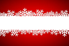 Christmas snowflake background with space for your wishes Stock Photos