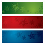 Christmas snowflake banners Stock Photo