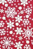 Christmas Snowflake and Bauble Background royalty free stock image