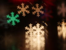 Christmas snowflake bokeh background stock image