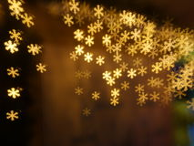 Christmas snowflake bokeh background Royalty Free Stock Image