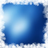 Christmas snowflake border. Christmas background with a snowflake border