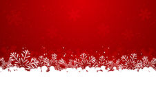 Christmas snowflake border Stock Photography