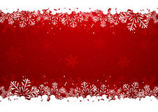 Christmas snowflake border Royalty Free Stock Photography