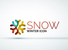 Christmas snowflake company logo design Royalty Free Stock Photo
