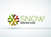 Christmas snowflake company logo design Stock Photo