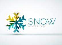 Christmas snowflake company logo design Stock Image