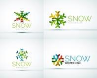 Christmas snowflake company logo design Royalty Free Stock Images