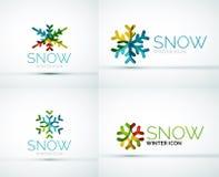 Christmas snowflake company logo design Royalty Free Stock Photography