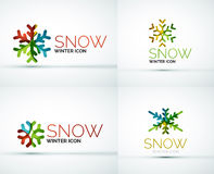 Christmas snowflake company logo design Royalty Free Stock Photo