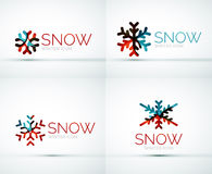 Christmas snowflake company logo design Stock Photography