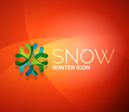 Christmas snowflake company logo design Stock Images