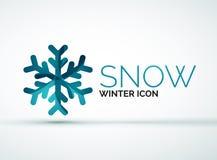 Christmas snowflake company logo design royalty free illustration