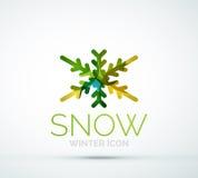 Christmas snowflake company logo design Stock Photography