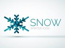Christmas snowflake company logo design Royalty Free Stock Image