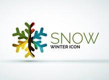 Christmas snowflake company logo design Royalty Free Stock Photos