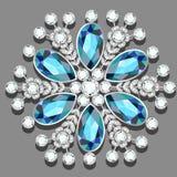 Christmas snowflake crystal precious. Beautiful jewelry, medalli Stock Images