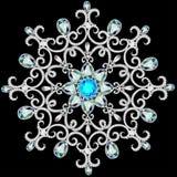 Christmas snowflake crystal precious. Beautiful jewelry, medalli Royalty Free Stock Photography
