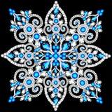 Christmas snowflake crystal precious. Beautiful jewelry Royalty Free Stock Photo