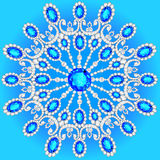 Christmas snowflake crystal precious. Royalty Free Stock Photo