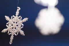Christmas snowflake decoration. Close up Royalty Free Stock Photo