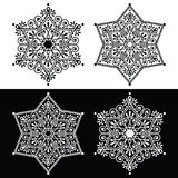 Christmas snowflake decoration - embroidery style Royalty Free Stock Image