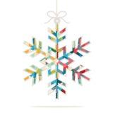 Christmas snowflake decoration. Christmas snowflake  decoration illustration Royalty Free Stock Photos