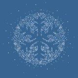 Christmas snowflake decoration. Vector illustration of a Christmas snowflake decoration made from stars. Happy Christmas greeting card Stock Photo
