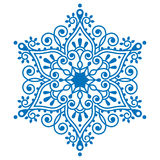 Christmas snowflake design, winter embroidery Royalty Free Stock Image