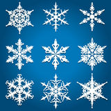 Christmas snowflake designs Royalty Free Stock Photography