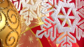 Christmas snowflake on a festive background stock footage