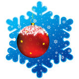 Christmas snowflake frame Royalty Free Stock Photography