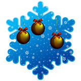 Christmas snowflake frame Royalty Free Stock Photos