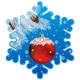 Christmas snowflake frame Stock Photos