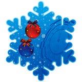 Christmas snowflake frame Royalty Free Stock Image